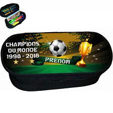 trousse à crayons école foot 2 étoiles champions du monde personnalise réf 280