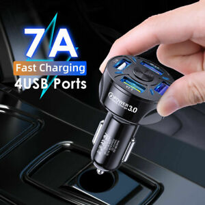 Quick Car Charger QC3.0 For Mobile Phone 4 USB Fast Charging Adapter Accessory