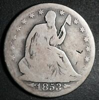 1853 SEATED LIBERTY HALF DOLLAR - With ARROWS & RAYS