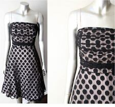 Retro Rockabilly Polka Dot Vintage 80s does 50s Cocktail Sheer Party Dress Sz M