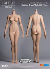 1/6 Scale Hot Stuff, Phicen Female Body Medium Bust Body Pale Skin M-02 Ver.3.0