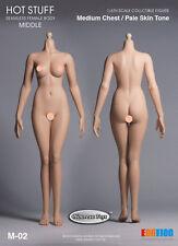 1/6 Scale Hot Stuff, Phicen Female Body Medium Bust Body Pale Skin M-02 Ver.3.0