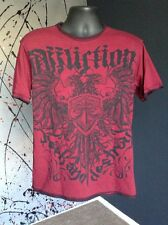 Affliction Dark Red REVERSIBLE Graphic Men's T-shirt Size Medium