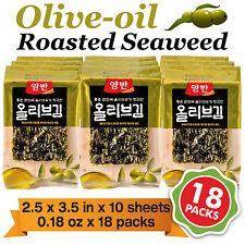 18 Packs Olive-oil Roasted Seaweed Seasoned Laver Sushi Nori Gim/Kim Health Diet