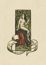 Book Plate Daniel Pesl I, 1901, FRANZ MARC, Cubism, Expressionism Art Poster