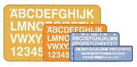 HELIX NUMBER AND LETTER STENCILS – SET OF 4 IDEAL FOR  SCHOOL & UNI + FREE P&P