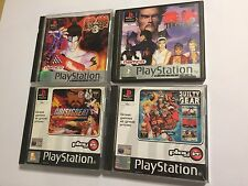 4 PS1 PLAYSTATION 1 PSone GAMES BUNDLE TEKKEN 2 II 3 III +GUILTY GEAR CRISISBEAT