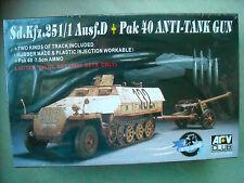 AFV CLUB-1/35-#AF35526-SD.KFZ.251/1AUSF.D+PAK 40 ANTI TANK GUN