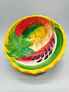 Fruit / Salsa Bowl Footed Hand Painted Bernardo Cabo San Lucas