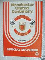 1978 MANCHESTER UNITED v REAL MADRID, Official Centenary Souvenir Programme