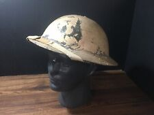 ww2 American US M1917A1 Kelly Helmet Pacific Pearl Harbour White Wash Original