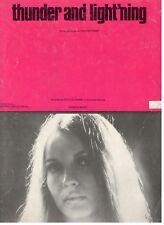 "CHI COLTRANE ""THUNDER AND LIGHT'NING"" SHEET MUSIC-PIANO/V/CHORDS-1972-RARE-NEW!!"