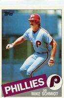 Mike Schmidt 1985 Topps #500 Philadelphia Phillies