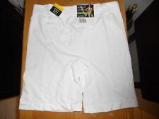 """Vassarette Slip Shorts, White, Sz 9 (2X), 14 1/2"""" Long, No Lace"""