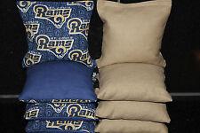 ST. LOUIS RAMS 8 CORNHOLE BEAN BAG TOSS BAGGO Top Quality Handmade! NEW!