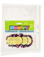 5 GOLD WINNERS MEDALS (Party Bag Toys/Fillers/School Sports Day/Events){PF}