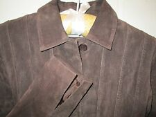Deep Brown Suede Lined Jacket Shirt Size 4 by Margaret Godfrey