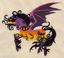 UNICORN HALLOWEEN SET OF 2 BATH HAND TOWELS EMBROIDERED BY LAURA