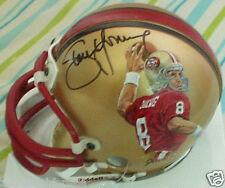 Steve Young signed auto San Francisco 49ers mini helmet painted by Jolene Jessie