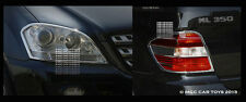 Mercedes ML 2005-2009 Headlight & Taillight Chrome Trim Set (trims only)