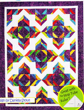 "Lotus Blossom - pieced quilt PATTERN for 2.5"" strips - 4 sizes"