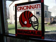 Cincinnati Bengals Official NFL glass and metal Tiffany style sign