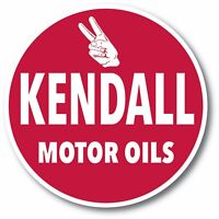 KENDALL MOTOR OILS GASOLINE SUPER HIGH GLOSS OUTDOOR 3.75 INCH DECAL STICKER