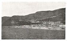 D0583 Bagnara Calabra - Vista dal mare - Stampa d'epoca - 1930 old print