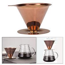 Gießen Sie über Kaffeekegel Tropftrichter papierlos für Küchen Heim Camping