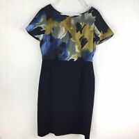 Alex Marie Womens size 10 Dress Abstract Watercolor Floral Short Sleeve