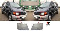 FOR MB VITO W638 1996 - 2003 NEW FRONT HEADLIGHT LAMP GLASS PAIR SET LHD