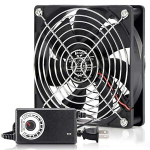 120mm 115V 120V AC Powered Fan with Speed Controller DC 3V to 12V Cooling Fan