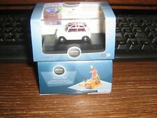 OXFORD DIE-CAST - MINI COOPER (AUSTIN) - WHITE WITH UNION JACK ROOF - 00 / 1:76
