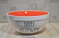 Rae Dunn Bowl HAPPY HALLOWEEN Orange Inside Large Mixing Bowl NEW HTF '19