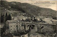 CPA  Le Cheylard - Le Pont Sauzet et la Gare des C. F. D. au Cheylard  (484883)
