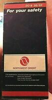 Northwest Orient Safety Card DC-9 30/50 from 1986 Northwest Airlines NWA
