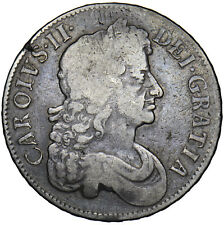More details for 1676 crown - charles ii british silver coin - nice