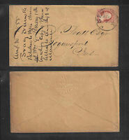 1855 TRACY IRWIN IMPORTERS DRY GOODS NEW YORK ADVERTISING COVER w/ IMP 3¢ WASH