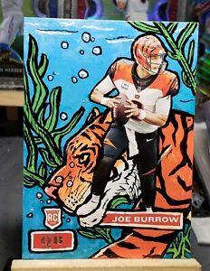 "2020 Panini Chronicles Joe Burrow Rookie CUSTOM ""Mr. BENGAL"" SP #1/1 Bengals!"