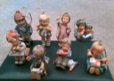 "Lot 8 - 1997 Goebel Hummel Children ""Christmas Ornaments"" 3"" Tall Mint!"