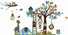 Removable Wall Sticker Tree Giraffe Monkey Child Kid Room Nursery Decor Decal