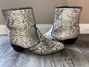 Mens Python Snakeskin Short Ankle Los Altos Boots Handcrafted Cowboy Boot Shoes