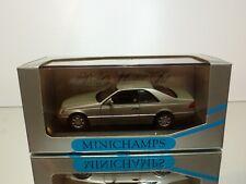 MINICHAMPS 32602 MERCEDES BENZ 600 SEC V12- SMOKE-SILVER 1:43 - EXCELLENT IN BOX