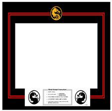 Mortal Kombat Arcade Monitor Bezel Sticker Decal