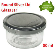 12 Silver Lid Mini Small Glass Jars Party Favours Lolly Jar Wedding Jam 80ml