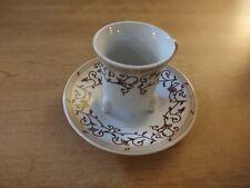 Allev Mini 12 Piece Tea Expresso Set Porcelain Brown Footed Teacups