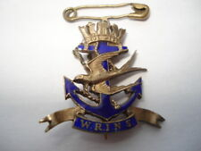 SCARCE C1930S W.R.I.N.S.(WOMANS ROYAL INDIAN NAVAL SERVICE)SWEETHEARTS PIN BADGE
