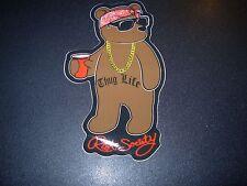 "RIOT SOCIETY Thug Life Panda Logo Skate Sticker 5"" skateboards helmets decal"