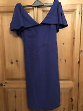 Karen millen Purple Blue Dress Size 3 12