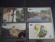 FEDERAL RURAL UNIVERSITY Complete Set of 4 Different Phone Cards from Brazil